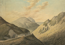 View of the Mountains with Penmaen Mawr  & the Isle of Angelsea, Carnarvonshire